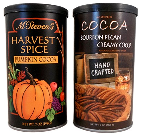 McSteven's Harvest Spice Cocoa and Bourbon Pecan Creamy Cocoa Bundle 2 Items: 1 Pumpkin Cocoa and 1 Bourbon Pecan Cocoa -