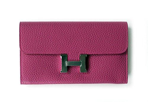 LUX CONS CROSS BAG & WALLET / DEEP PINK Premium Genuine Leather Womens Korea Handbag Lux Mini Wallet