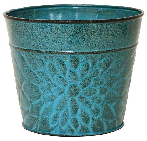 Robert Allen MPT02005 Laurel Series Metal Planter Flower Pots, 6