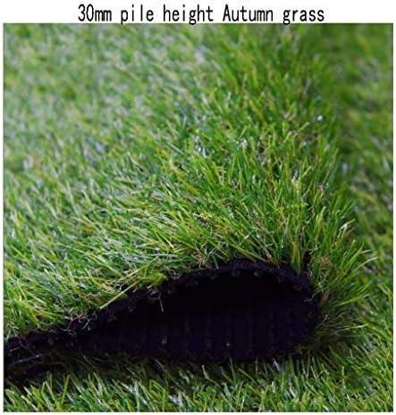 XEWNEG 暗号化された人工芝、30mmの山の高さ、緑の快適で柔らかい草のカーペット、庭の芝生レストランの遊び場の装飾に適して (Size : 2x2M)