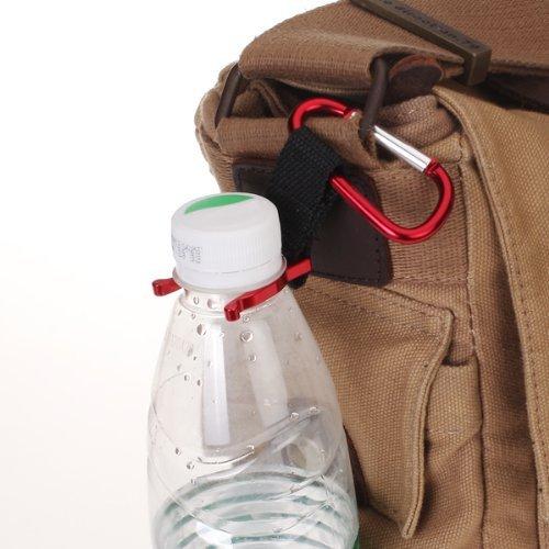 Nroom Viajes Cintur/ón con Hebilla para Botella de Agua para Senderismo Color Rojo
