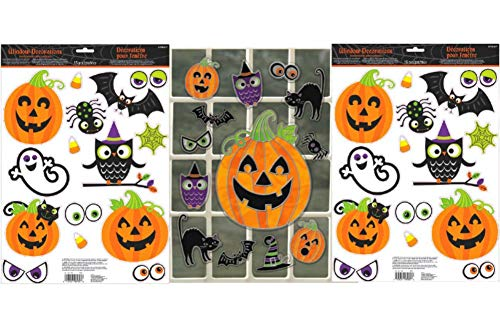 Halloween Window Mirror Decoration Bundle - Party Accessory