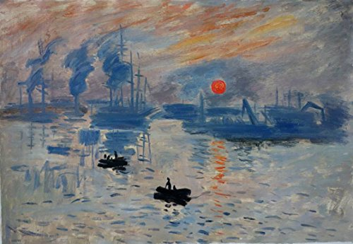 France Oil Painting - Eastpainting Handmade Oil Painting Impression, Sunrise By Claude Monet ( 1840-1926 France ) Musee Marmottan, Paris (24x36 Inches)