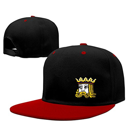 Poker King Adjustable Snapback Hats Flat Brim Hip-Hop Caps (Personality Poker compare prices)