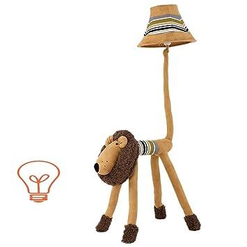 LILISHAGNPU Lámpara de pie Creative Cartoon Lion Animal ...