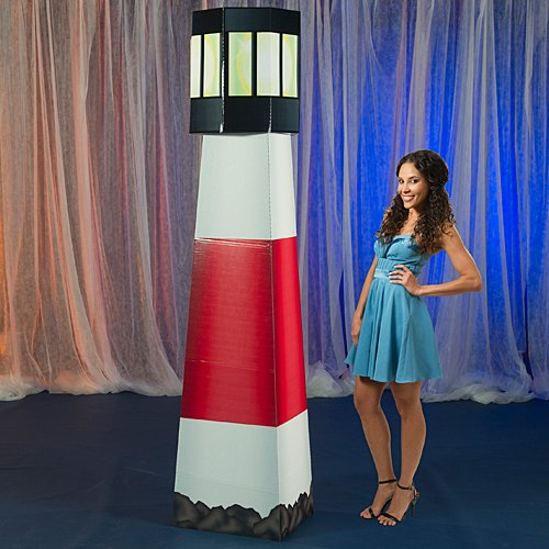Nantucket Lighthouse Standee Standup Photo Booth Prop Background Backdrop Party Decoration Decor Scene Setter Cardboard Cutout (Party Supplies Lighthouse)