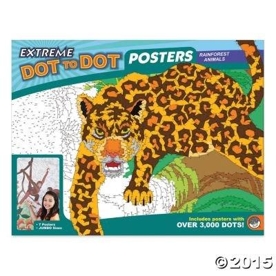 MindWare s Extreme Dot to Dot 7-Poster Set: Rainforest Animals