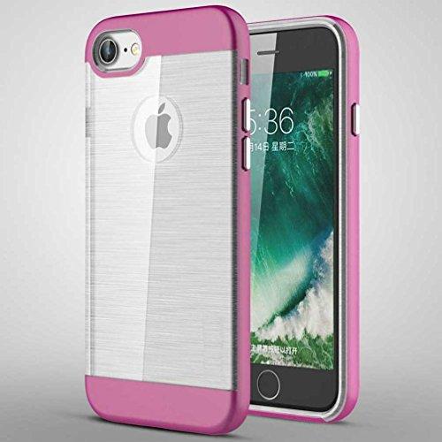 """4.7"""" iPhone 7 Coque, AOFad Case Concis Protection des lourds Mince Rose Plastique Hybride Accessoires Série Pour Femme Homme L197"""