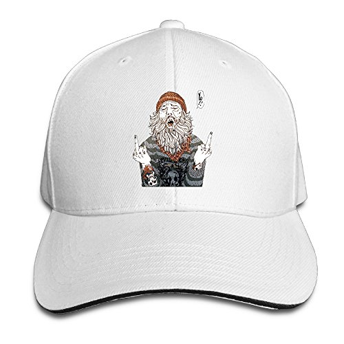 NUBIA Fuck You Sandwich Peak Cap Flex Fit Cap White