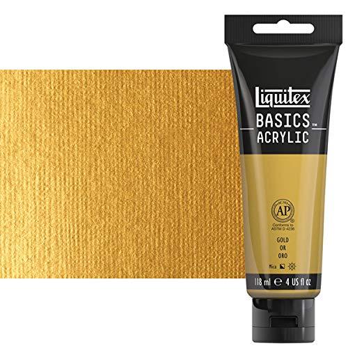 Liquitex BASICS Acrylic Paint 4-oz tube, Gold