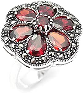 Ring silver caliber 925studded with Markzi