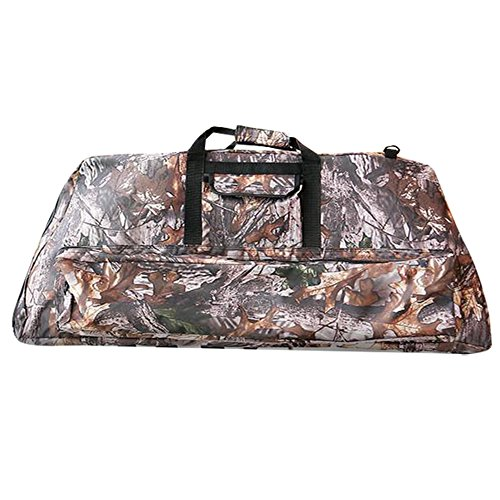 Pellor Oxford Archery Soft Compound Bow Case Accessories Holdall Carry Bag for Hunting Training (Camo, A: 39.4x14x5.9inch)