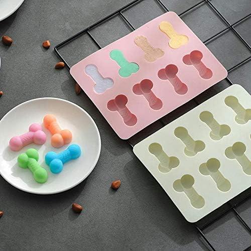 Stampo per Ghiaccio KTENME per Pancake e cioccolatini Antiaderente Blue a Forma di Osso di Cane 18.7 * 14.6 * 1.65cm Ecologico