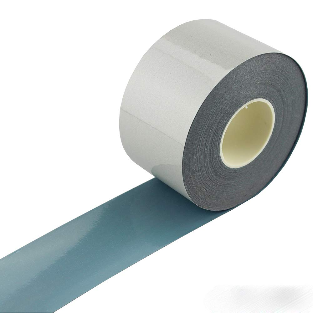 Elastic Silver Reflective Tape Iron On Fabric Heat Transfer Vinyl Film DIY For Clothing 2 x 66ft JINBING