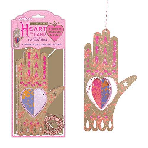 eeBoo Lost Arts Valentine Token, Heart in Hand
