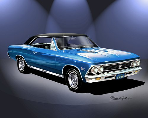 1966 chevelle ss 396 blue