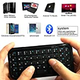 Portable Mini 3.0 Wireless Keyboard, Handheld Remote Control Keyboard for PC smartphone and more Black