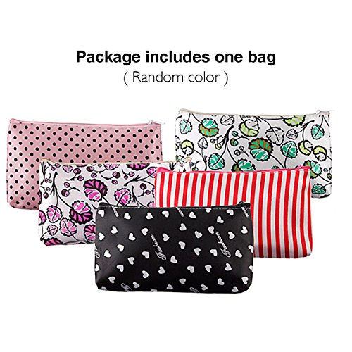 LuckyFine New Women's Waterproof Cosmetic Coin Cellphone Makeup Cloth Pouch Bag Purse Case(Send Random)