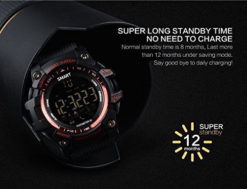 ... 4.0 IP67 Waterproof Sports Wristwatch Pedometer Call SMS Reminder Remote Control Luminous Dial Watch For Android IOS: Cell Phones & Accessories