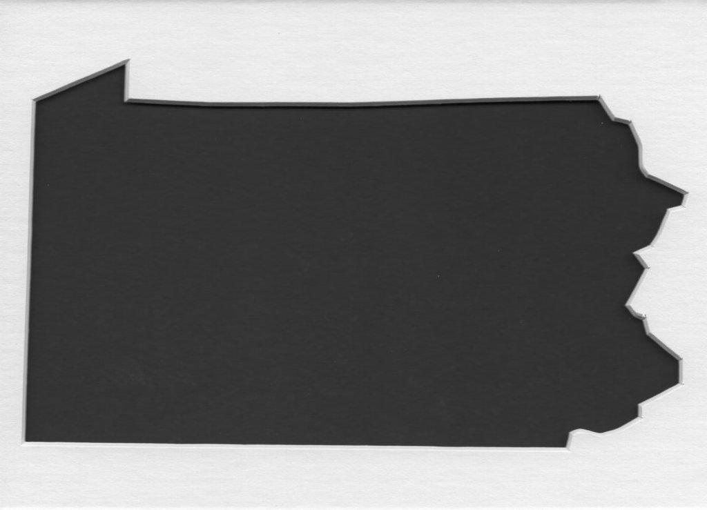 18 x 24 Pennsylvania StateステンシルMadeから4 plyマットボード B06XBFPPVS