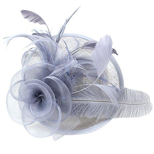 Wiwsi Fashion Hair Fascinator Clip Feather Party Pillbox