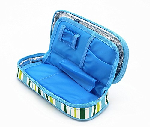 ONEGenug-Portable-Insulin-Cooler-Bag-Epipen-case-Diabetic-Organizer-Medical-Travel-Cooler-Light-Blue