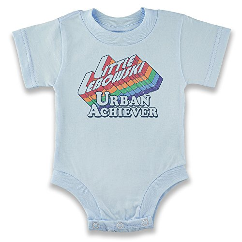Pop Threads Little Lebowski Urban Achiever Funny Quote Light Blue 12M Infant Bodysuit ()