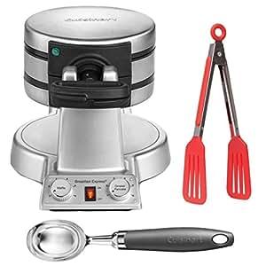 Cuisinart WAF-B50 Breakfast Express Waffle Maker + Waffle Fork + Measuring Cup
