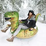 FindUWill Inflatable Dinosaur Snow Tube, 64.9 inch