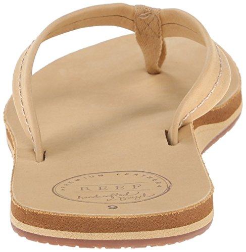 Reef Women's Chill Leather Flip Flops, Parent Brown (Tan)