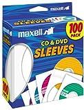 Maxell Blank Media CD/DVD 100-Pack Paper Sleeve 190133