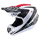 Troy Lee Designs Twilight Adult SE4 Carbon Off-Road Motorcycle Helmet - White/Large