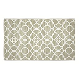 Structures Kohl Textured Printed Accent Rug, Beige/White 26 x 45\