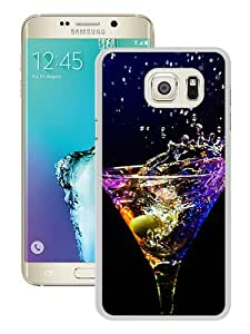 Durable High Quality Martini Cocktail Alcohol Splash Drops Olive Android Wallpaper White Samsung Galaxy S6 Edge Plus Screen Phone Case