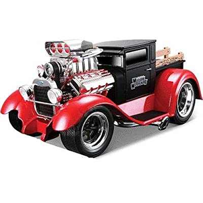 """1929 Ford Model A Matt Black/Red \""""Muscle Machines\"""" 1/18 by Maisto 32201: Toys & Games [5Bkhe1001968]"""