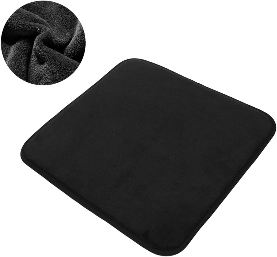 TANYOO Velvet Waterproof Car Seat Cushion, Memory Foam Coccyx Seat Cushions for Cars with Non-Slip Bottom, Chair Pad for Car Automobiles Tailbone Pain, Black【1 PC】