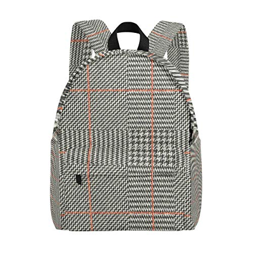 (Irregular Vertigo Checkered Pattern Student Backpack Laptop School, Travel College Bag Backpack, Unisex Waterproof High School Rucksack Suitable for Laptop Boy Girl)