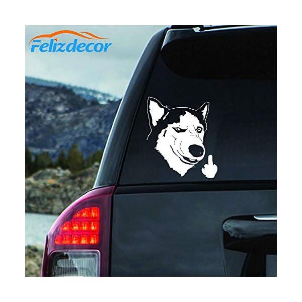 "Felizdecor Vinyl Animals Car Sticker Husky Dog Decal Waterproof Removable Car Decor,Laptop Decals (6"", L450) 1"