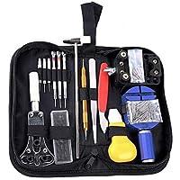 Kit de Reparación de Relojes, Cadrim 147 pcs Herramientas de Reparación Profesional para Barra de Resorte, kit de…
