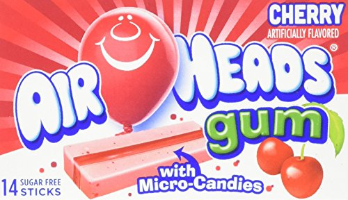 Air Heads Gum with Micro-Candies Cherry 12 Count