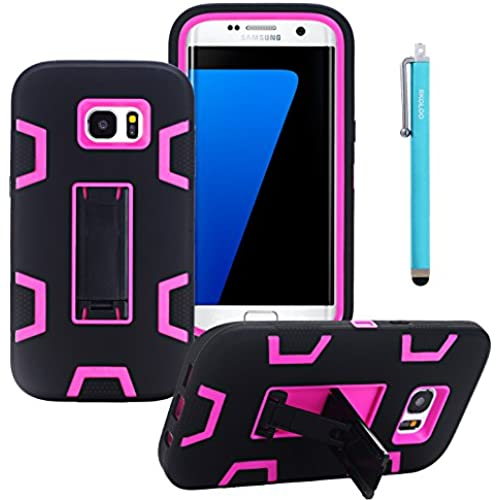 S7 Edge Case,Skoloo 3 Layers Hybrid Combo Hard Durable Rugged Impact Armor Defender Shockproof Cover Protective Sales