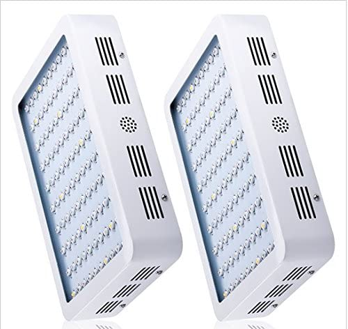 GOWE 2pcs 300W Full Spectrum LED Grow light White Panel For Medical Flower Plants Vegetative and Flowering Stage Plants LED Light