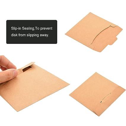 Amazon.com: Bestchoice – 100 bolsas de papel Kraft de 4.9 x ...