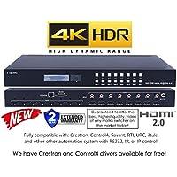 8x8 HDMI 2.0 HDR 4K 60HZ MATRIX SWITCHER YUV 444 HDCP2.2 HDTV ROUTING SELECTOR SPDIF AUDIO CRESTRON CONTROL4 SAVANT HOME AUTOMATION (8x8 HDMI HDR)
