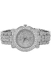 Diamond & Co. Men's Analog Japan Quartz 14k White Gold Finish Watch