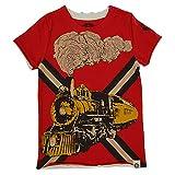 mini shatsu - Mini Shatsu Big Boys' Vintage Train T-Shirt in Red 8