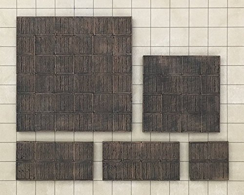 5-Piece Set of Assorted Tavern Wood Terrain Tiles Tavern Wood