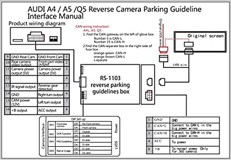 audi symphony 2 wiring diagram amazon com oem a4 q5 a5 backup camera with dynamic parking guide  oem a4 q5 a5 backup camera with dynamic