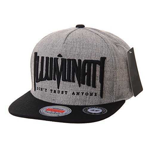 (WITHMOONS Snapback Hat Illuminati Embroidery Hip Hop Baseball Cap AL2389 (Grey) )