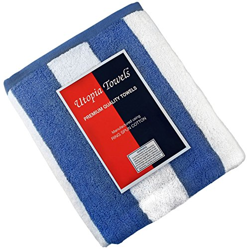 Utopia towels large beach pool towel towel in cabana for Easy care pool products